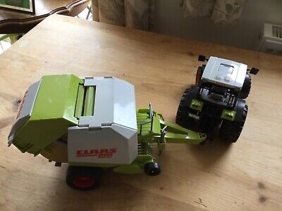Bruder Claas Tractor & Round Baler With Bale, Immaculate • 15£