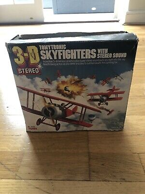TOMYTRONIC 3D Stereo Skyfighters. Immaculate Condition. ORIGINAL Box & Manual. • 50£