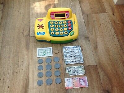 Toy Shop Cash Register With Sounds, Play Money, Credit Card, Battery Powered • 3.50£