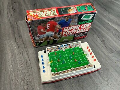 Vintage 1980's Tomy Super Cup Football Game - Full Working Order With Box. • 39.99£