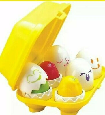 TOMY Toomies Hide And Squeak Eggs, Educational Shape Sorter Baby • 1.70£