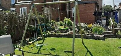 Trigano Outdoor Double Swing Set, Seasaw Monkey Bars • 50£