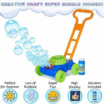 Kids Lawn Bubble Mower Bubbles Machine Blower Garden Party Summer Fun Toy Gift  • 12.90£
