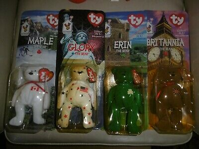 TY Beanie Teenie 'The Bear' Set From McDonalds. Tag Charity. Pinchers Included • 19.99£