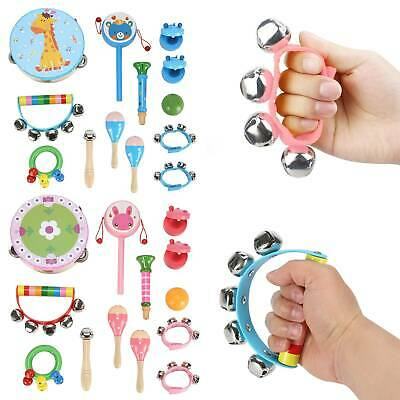 13pcs Set Wooden Kids Baby Musical Instruments Toys Children Toddlers Percussion • 16.79£