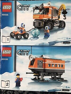 Lego City 60035 Arctic Outpost  Instruction Book 1 And 2 Only No Bricks C10 • 2£