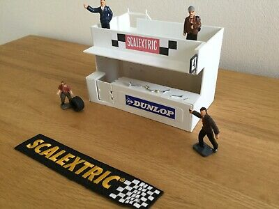 Scalextric Micro Vintage 'dunlop' Owners Stand & Pitstop With Figures  • 14.95£