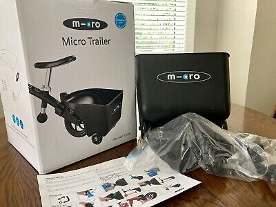 Micro Scooter Trailer Black Brand New With Box, Instructions & Parts • 20£