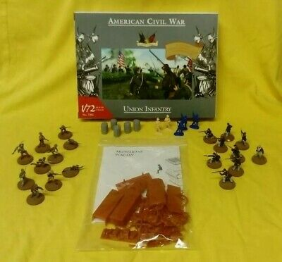 American Civil War Union And Confederate Infantry And Wagons Job Lot (1:72) • 16£