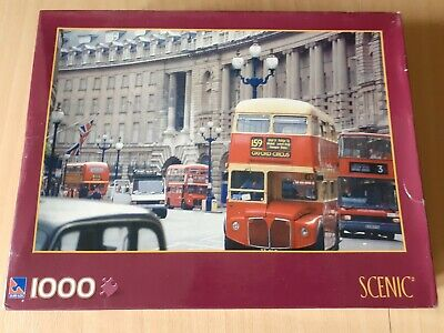 Jigsaw Puzzle London Buses 1000 Peices • 1.20£