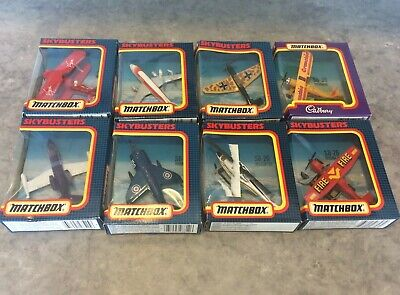 Eight Boxed Matchbox Die Cast Skybusters Aircraft Models Issued 1992 MIB • 4.99£
