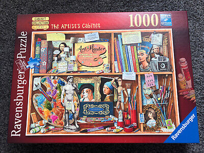 Ravensburger 1000 Piece Jigsaw Puzzle - The Artist's Cabinet DONE ONCE • 2.38£