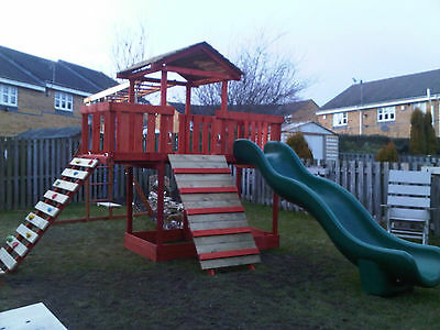 NEW-Wooden Climbing Frame,monkey Bars,Slid ,Swing, Delivery & Assembly Included  • 499.99£