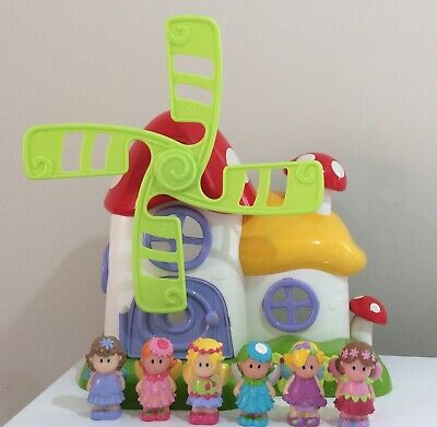 ELC Happyland Bundle/Windmill With Sounds + 6 Fairies Figures • 5.50£