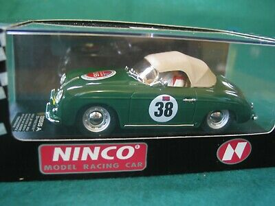 Ninco 50126 Porsche 356a Speedster Green #38 Scalextric Compatible Bnib • 58£