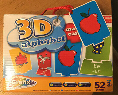 3D Alphabet Match Cards • 2£