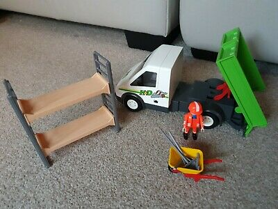 Playmobil Workmen With Tipper Van And Scaffolding  • 16£