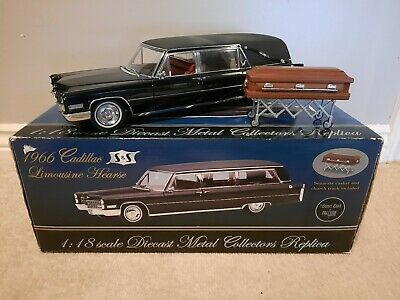 1/18 Scale Cadillac Hearse Funeral Coffin Model Car Diecast • 40£