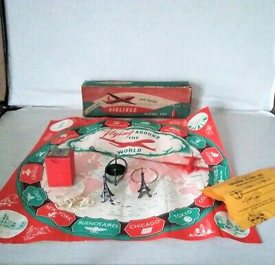 Vintage Progress Airliner Gyroscope Flying Toy C. 1950's - Rare / Boxed    • 95£