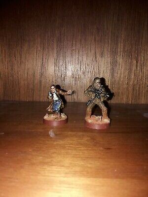 Star Wars Legion Han Solo And Chewbacca Well Painted • 12£