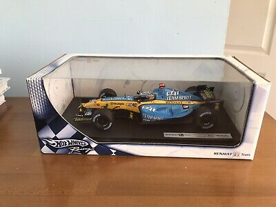 Hot Wheels 1/18 Fernando Alonso Renault R25 Car F1 Very Rare Signed Authentic • 70£