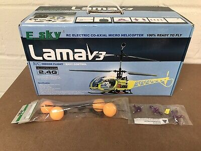 Esky Lama V3 R/c Helicopter Boxed With Accessories • 75.99£