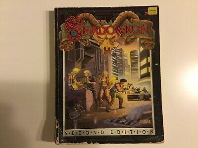 SHADOWRUN 2nd Edition FASA 7901 1992 Softcover Rulebook • 19.99£