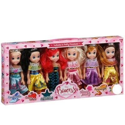 The Pretty Princess Doll Collection Set Of 6 Disney Princess Dolls 20cm Tall  • 16.51£