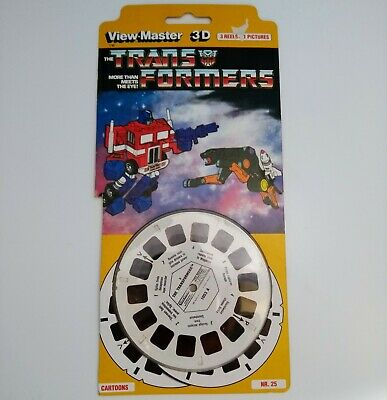 Viewmaster TRANSFORMERS 3 Reels, 21 Pictures 3D  Packet 1053 E • 20£