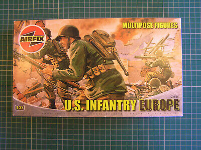 Airfix 1:32 Multipose Figures Us Infantry Europe Ww2 • 14.99£