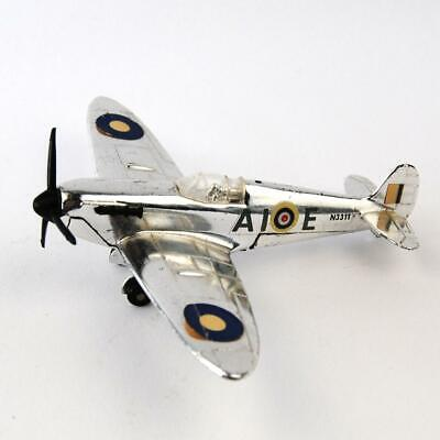 Vintage Dinky Meccano Spitfire MK2 Chrome Finish RAF Diamond Jubilee 1978 • 21.99£
