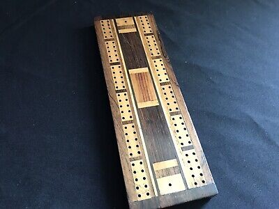 Vintage Inlaid Wooden Marquetry Cribbage Board Box Lid • 5£