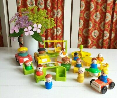Vintage Fisher Price Figures Plane Car Furniture Mixed Lot • 15£