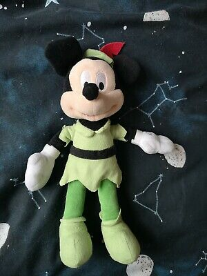 Mickey Mouse Dresses As Peter Pan Soft Toy  • 7£