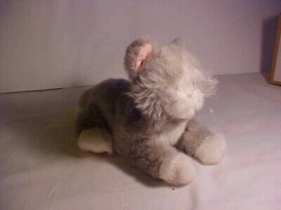 Grey Fluffy Battery Operated Cat For Spares Or Repair • 0.60£