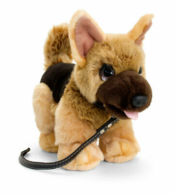 NEW KEEL SIGNATURE CUDDLE PUPPY ON LEAD ALSATAIN SD2568GSD DOG 30cm PLUSH TOY • 17.99£