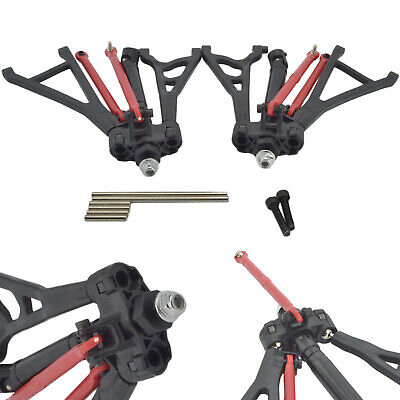 Traxxas E-Revo 1/16 Complete Front R/L Suspension Arms Toe Link DriveShafts Set • 39.99£