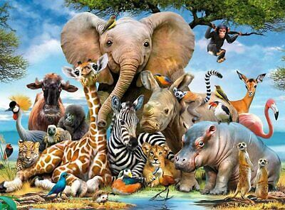 1000 Piece Animal World Jigsaw Puzzles Adult Kids Educational Puzzle Gift • 9.99£