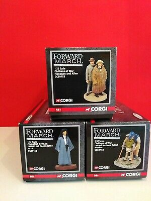 Corgi Forward March Civilians At War Job Lot X 3 • 14.95£