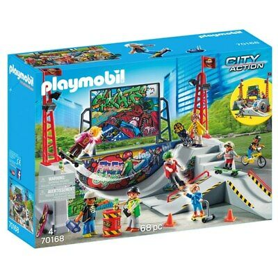 NEW Playmobil 70168 City Action Skate Park 68 Pieces Fun Kids XMAS GIFT • 33.99£