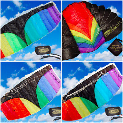 Spirit Of Air Kite POWERFOIL Powersled Power Dual Line Two Unpack & Fly Complete • 25.99£