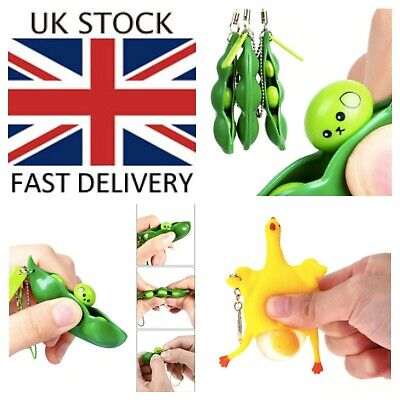 FIDGET PEAS & SQUEEZE CHICKEN EGG Sensory Toy ANXIETY STRESS Autism ADHD SEN • 3.99£