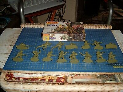 15 Unpainted 1/32 American Infantry By Matchbox • 7.95£