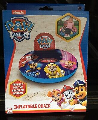 NickJR PAW PATROL KIDS INFLATABLE INDOOR GARDEN POOL BEACH FUN CHAIR / SEAT New • 7.50£