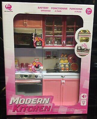 Modern Kitchen & Appliance Play Bundle  Sink Microwave Dishwasher Food Pots Set • 29£