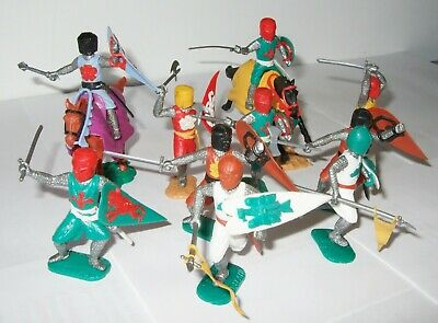 Timpo Medieval Knights X 2 On Horseback & 8 On Foot  • 29£