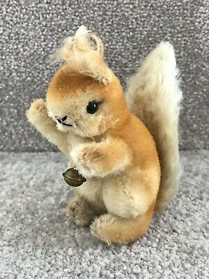 Vintage Steiff Possy Squirrel Miniature Baby Woodland Animal Mohair Toy • 30£