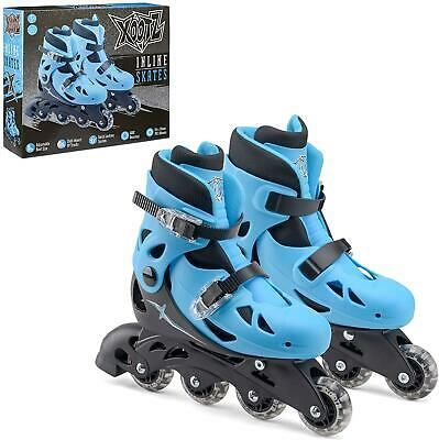 4 Wheel Adjustable Medium Inline Roller Blade Skates For Boys Kids Blue/Black • 19.61£