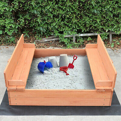 Children's Wooden Sand Pit With Seating And Cover • 57.99£