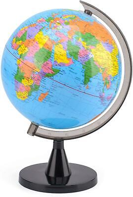 Kids Educational Desktop Rotating 20cm World Globe Desk Ornament With Stand • 13.11£